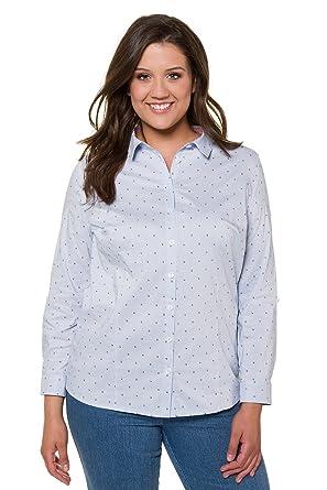 b3713c9e986 Ulla Popken Women's Plus Size Striped Petite Floral Print Shirt ...