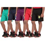 Provalley Boy's Printed Shorts - Pack of 5