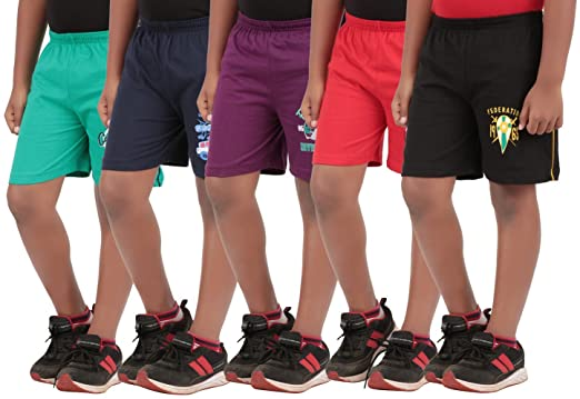 Provalley Pack of 5 Printed Shorts for Boys