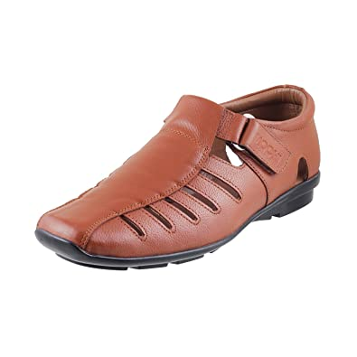 e2727c5612937 Mochi Men s Tan Leather Sandals-11UK India (45 EU) (18-384-23-45 ...