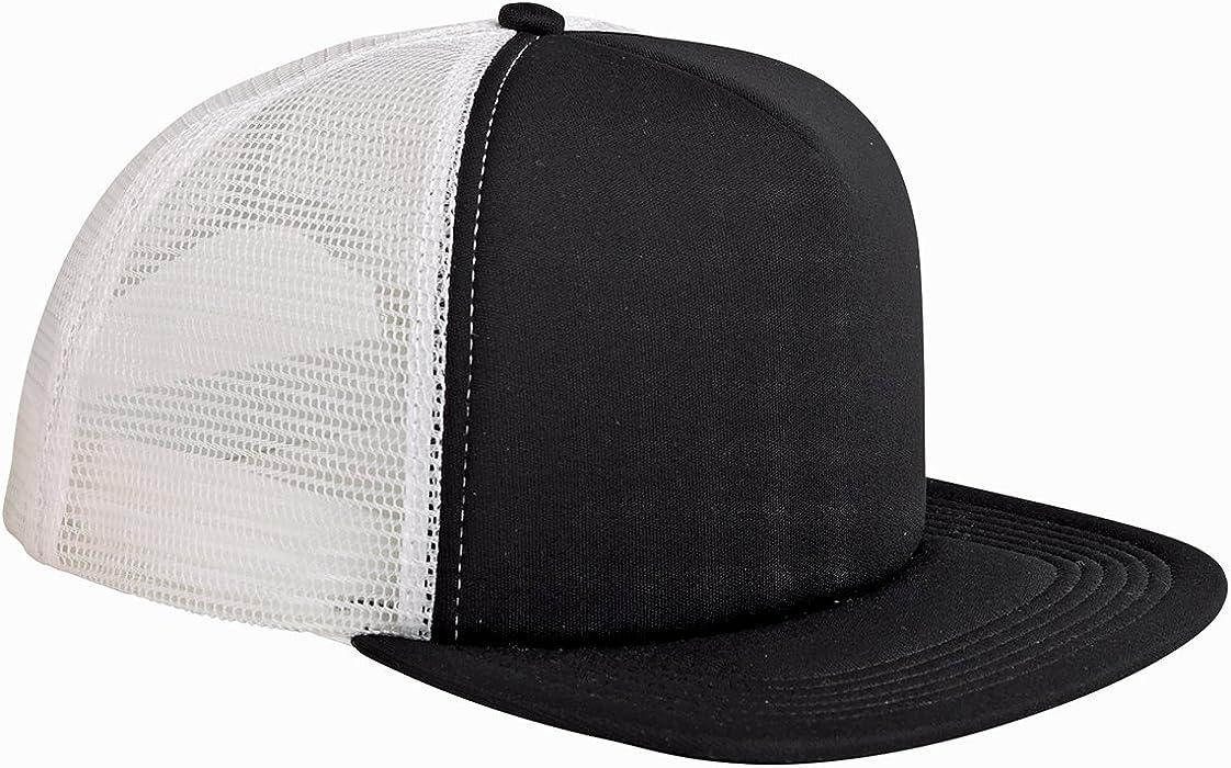 cd7100670f844 Amazon.com  BX FOAM FRONT TRUCKER CAP (BLACK WHITE) (OS)  Sports ...