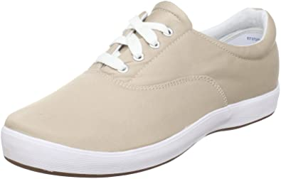 Grasshoppers Women's Janey Twill Lace-Up Sneaker,Stone,5 ...