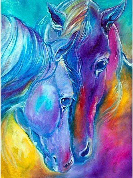 Horses House Full Drill DIY 5D Diamond Painting Cross Stitch Kits Wall Decor