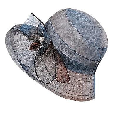 HeziCat - Sombrero de mujer con diseño de cabeza ancha, elegante ...