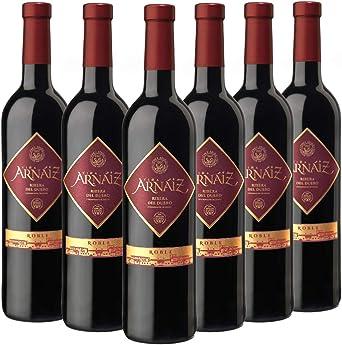 Viña Arnaiz Roble - Vino Tinto D.O Ribera del Duero, Pack de 6 Botellas x 750 ml: Amazon.es: Alimentación y bebidas