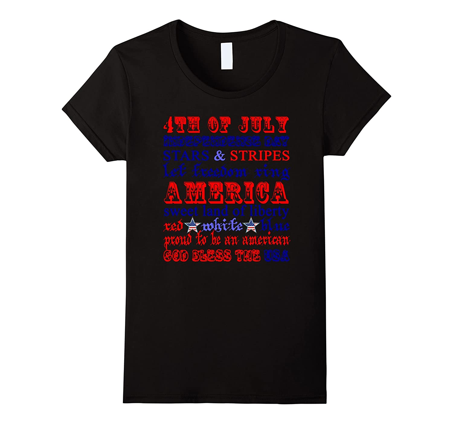 4th Of July Star and Stripe Let freedom ring America T Shirt