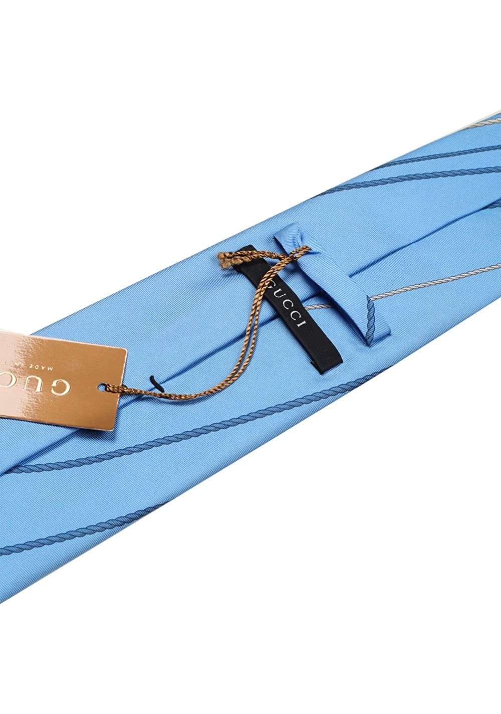Gucci CL Blue Patterned Rope Tie: Amazon.es: Ropa y accesorios