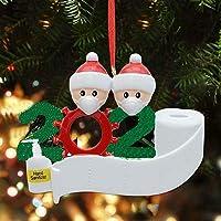 TERSELY 2020 Xmas Survived Family Santa DIY Christmas Tree Hanging Family Ornaments Decorations Gifts,Quarantined at…