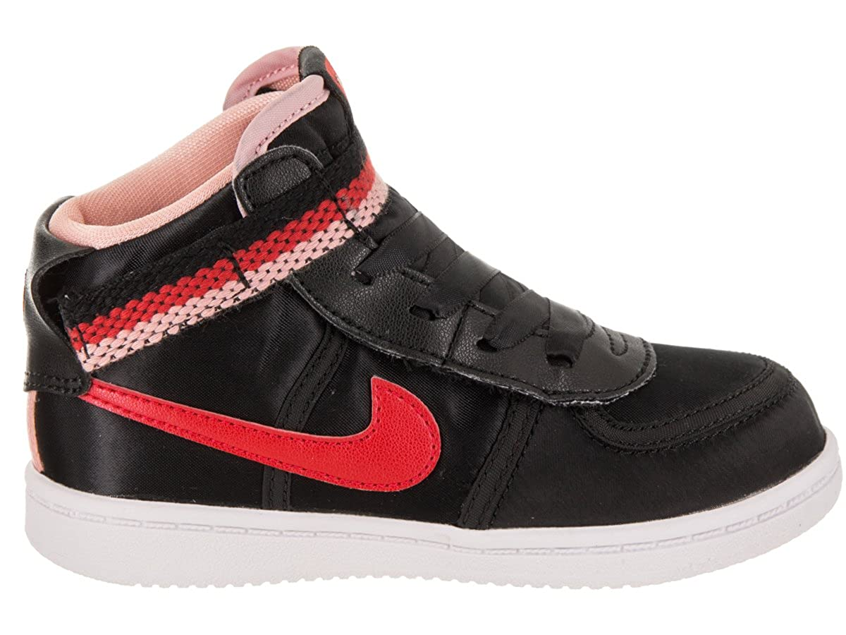 d864f1fc84e Amazon.com  NIKE Toddlers Vandal High Supreme QS (TD) Black Speed Red  Bleached Coral Basketball Shoe 8 Infants US  Shoes