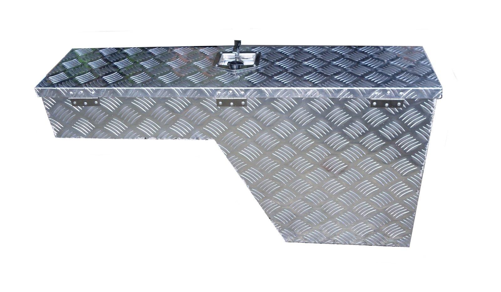 UWS EC30021 48-Inch Passenger-Side Heavy-Wall Aluminum Truck Fender Wheel Well Tool Box RigidCore Lid