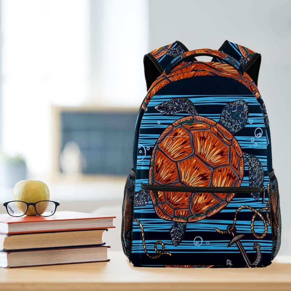 A Sea Turtle Travel Laptop Backpack Casual Durable Backpack Daypacks for Men Women for Work Office College Students Business Travel Schoolbag Bookbag