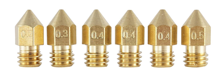 3D Freunde 6 Cabezales de impresión para extrusor MK8 HotEnd de ...