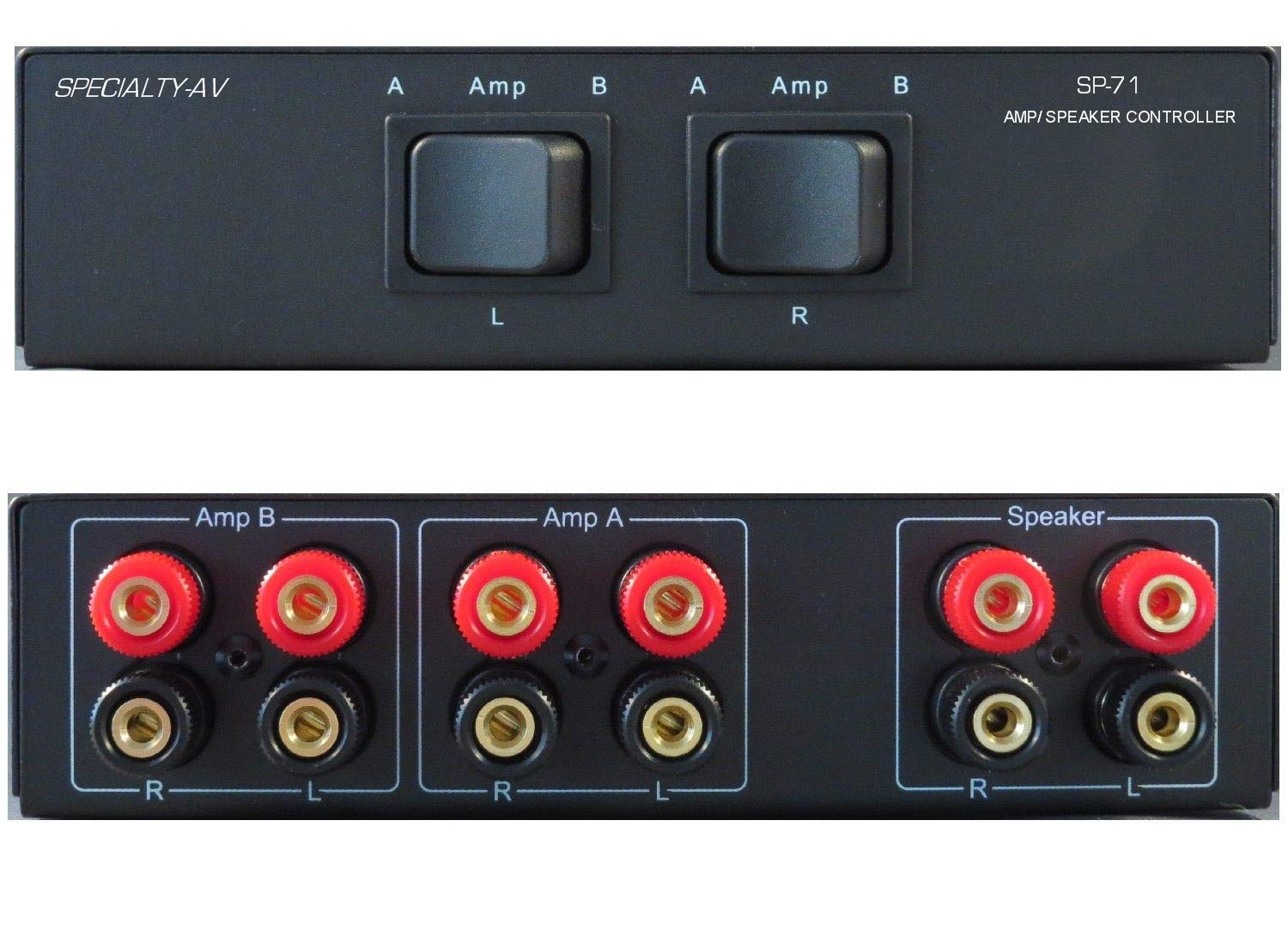 A//B A+B Switch 1 IN 2 OUT 2 Way Stereo Receiver Speaker Set Selector