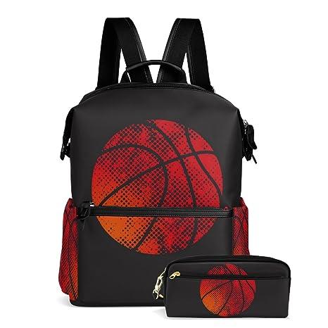 ablink pelota de baloncesto deporte poliéster Kids mochila libro ...