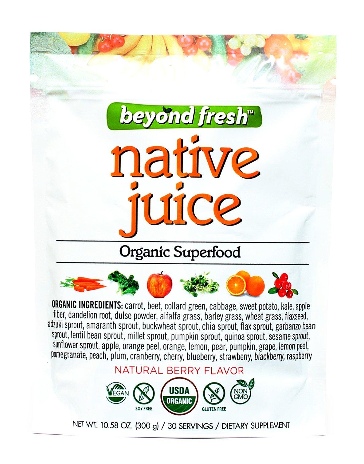 Native Juice Organic Super Food Natural Berry Flavor Beyond Fresh, 300 Grams, 300 Gram by BEYOND FRESH