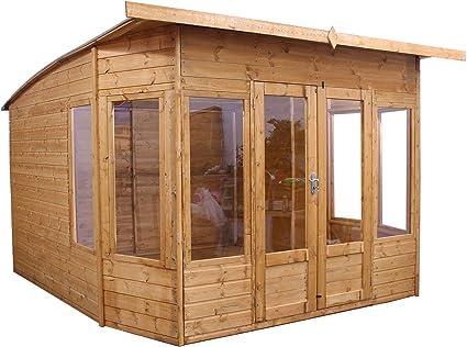 10 x 10 Madera Summerhouse – jardín Oficina – Cobertizo (T & G, Inclinado para Techo y Fieltro por Walton: Amazon.es: Jardín