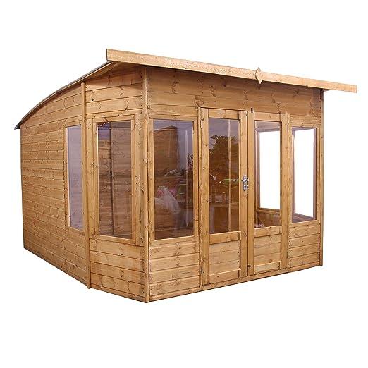 10 x 10 Madera Summerhouse - jardín Oficina - Cobertizo (T & G ...