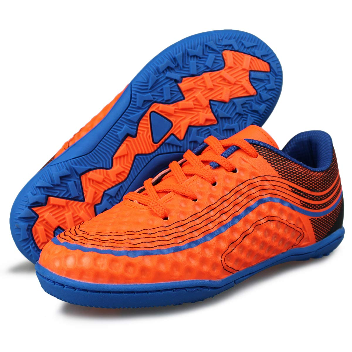 7503a780f30d Hawkwell Kids Athletic Indoor Comfortable Soccer Shoes/(Toddler//Little Kid //