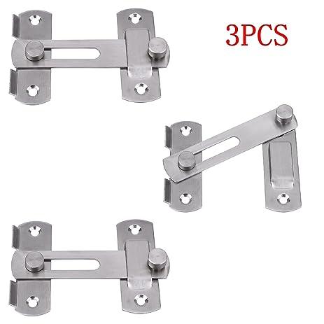 Creatyi 3 Pcs Stainless Steel Safety Door LatchesWindowFurniturePet Gate Lock  sc 1 st  Amazon.com & Amazon.com: Creatyi 3 Pcs Stainless Steel Safety Door Latches ... pezcame.com