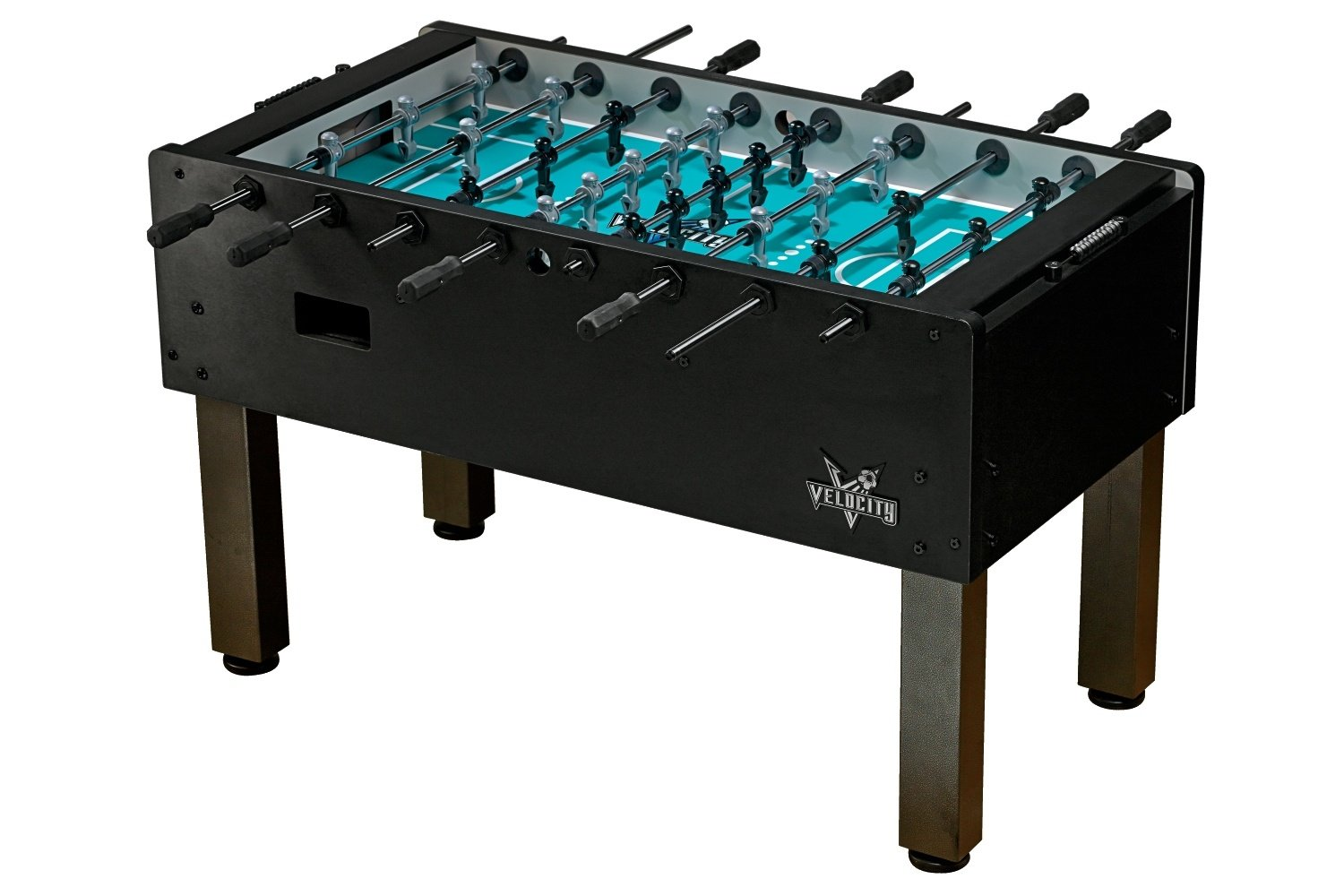 "Velocity Black HJ Scott Professional Foosball Table, 56 3⁄4"" x 29 3⁄4"" x 35 1⁄2"", VF5100, 3 Goalies by HJ Scott"