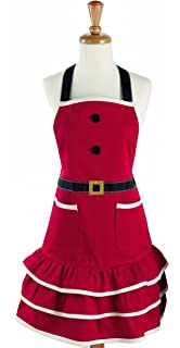 dii cotton chistmas kitchen apron with pocket and extra long ties 295 x 24 - Christmas Apron