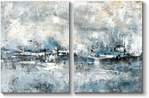 Abstract Canvas Artwork Wall Art Abstract Picture Hand Painted Painting on Canvas for Office 24 x 18 x 2 Panels