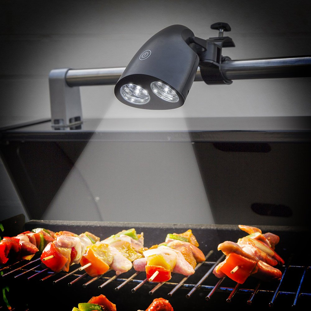 AGPTEK Barbecue Grill Light with 10 Ultra-Bright LED Lights - Easy to Install, Weather Resistant, Durable, Powerful LED BBQ Light for Any Electric/Charcoal/Gas Grill
