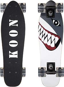 KOON Skateboards 22 Inch Complete Mini Cruiser Skateboard for Beginner Boys and Girls