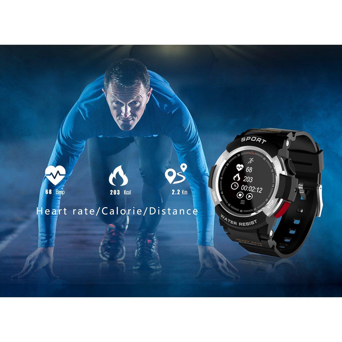 Kivors Relojes Inteligentes Deportivos, IP68 Impermeable Bluetooth Smartwatch Fitness Tracker con Monitor Cardiaco, Múltiples Modos de Deportes,Notificación ...