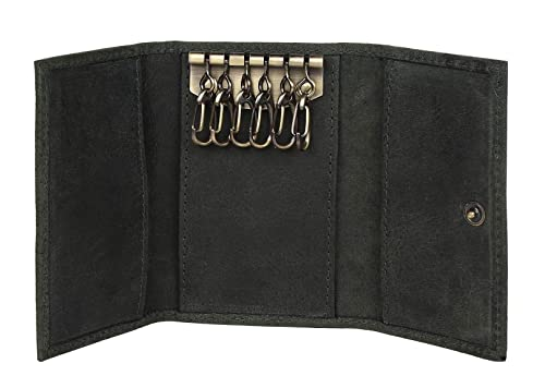Leather Key Case - Leather Key Holder Wallet Pouch - Gifts Him Her Men Women  ( 8cd3537087