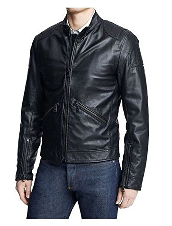 Laverapelle Men's Lambskin Real Leather Jacket Black - 1510449