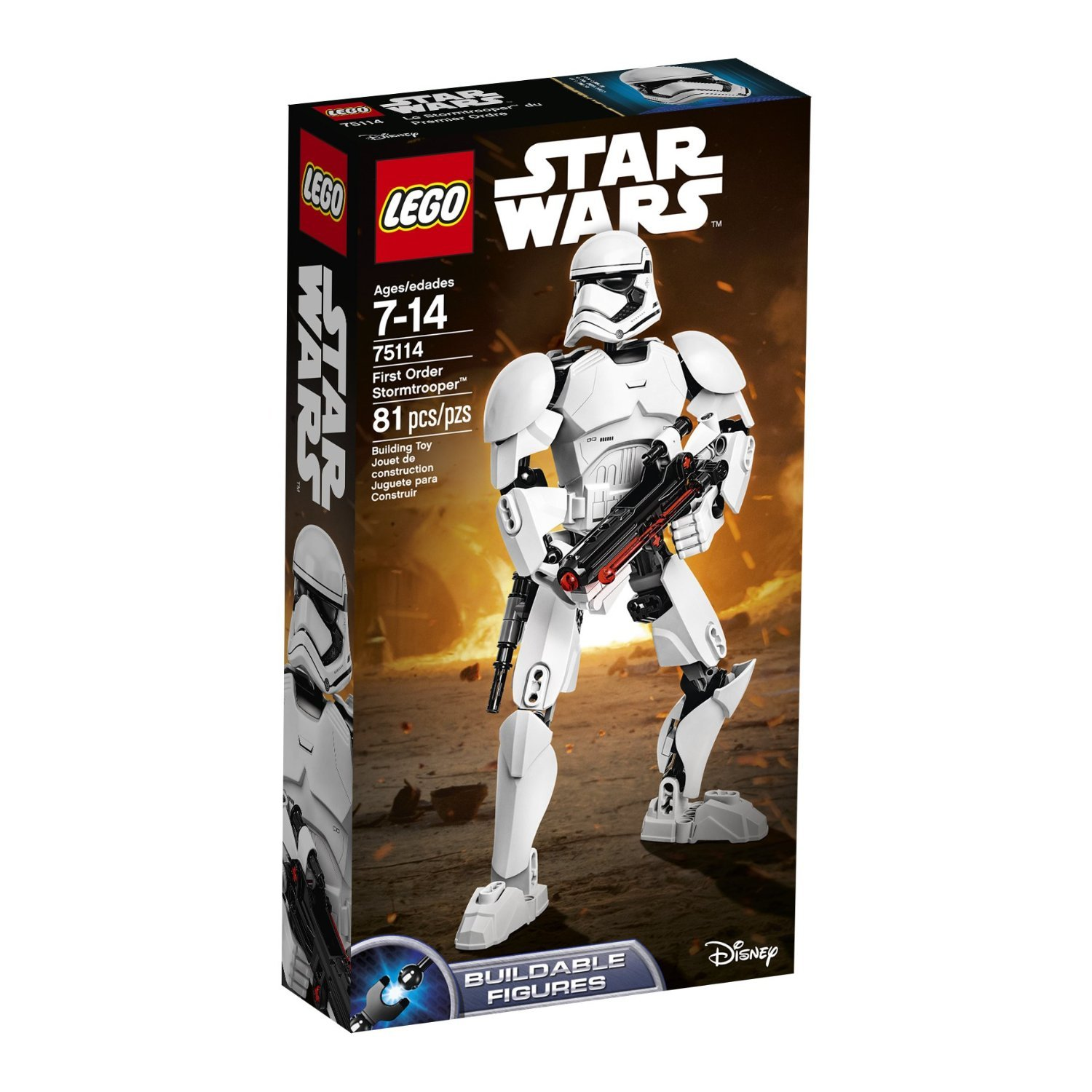81 Pieces, First Order Stormtrooper Figure Building Toy   B01N07AXJW