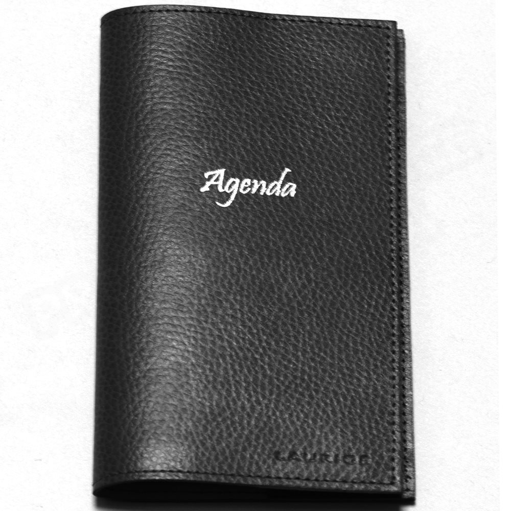 Agenda de bolsillo Piel Negro Beaubourg: Amazon.es: Oficina ...