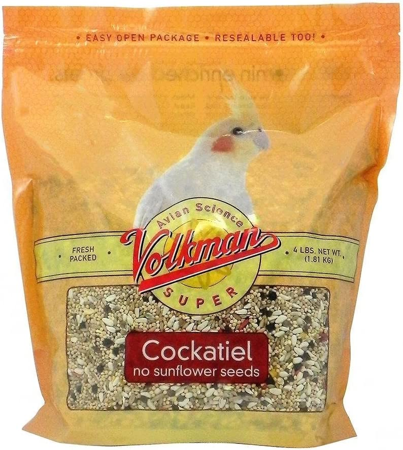 Volkman Seed Avian Science Super Cockatiel No Sunflower 4lb