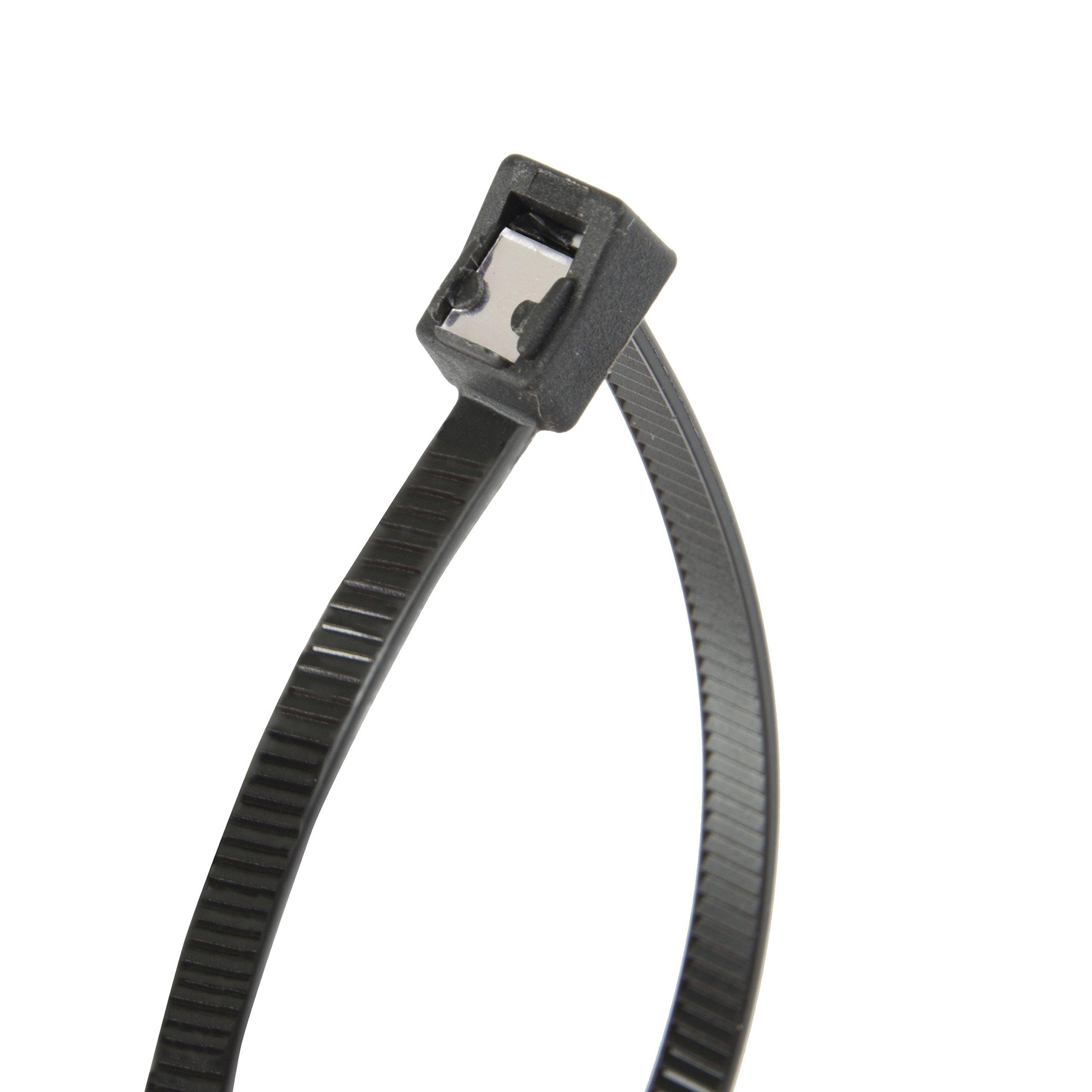 Gardner Bender 46-311UVBSC Nylon Self-Cutting Cable Tie, 11 inch, 50 lb. Tensile, Twist-Off Tail, Zip Tie, 50 Pk, UV Resistant Black