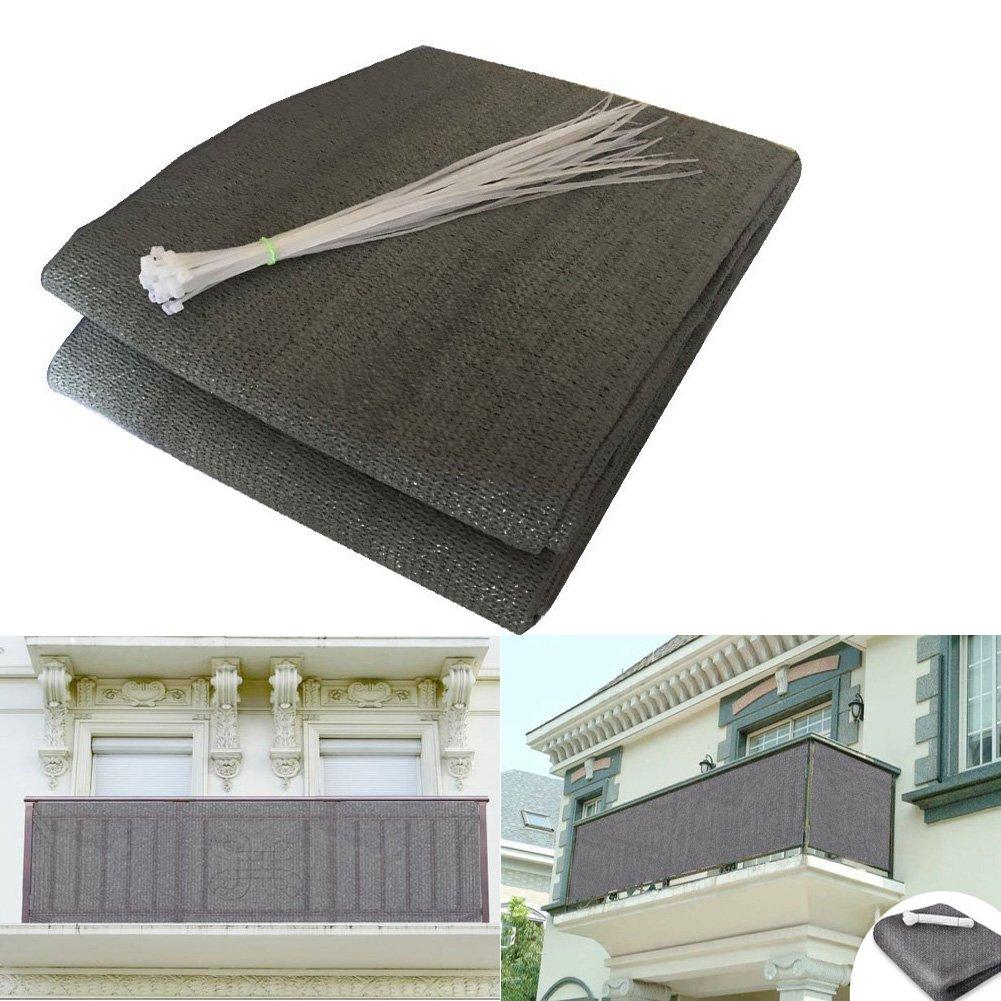 Shsyue®2017 balcone della Privacy witterungsbestaendige balcone della umspannung in antracite 500 x 90cm