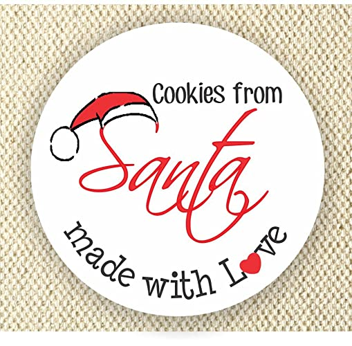 Merry Christmas Labels.Amazon Com Cookies From Santa Christmas Labels Happy