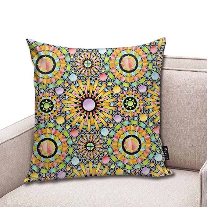Zara-Decor Aurora Mandalas Home Funda de cojín Decorativa ...