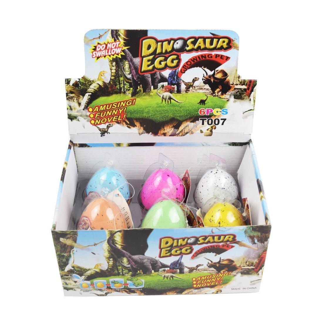 Yeelan Hatching Dino Dinosaur Dragon Hatch-Grow Eggs Large Size Pack of 3PCS,colorful crack