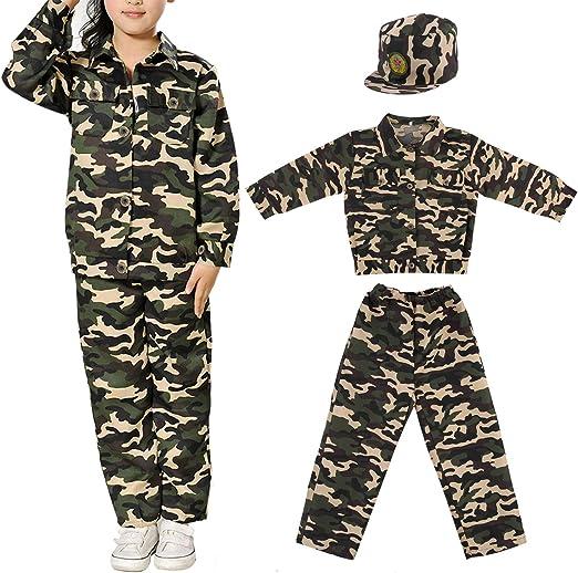 Discoball Niños Disfraz de soldado del ejército militar soldado ...