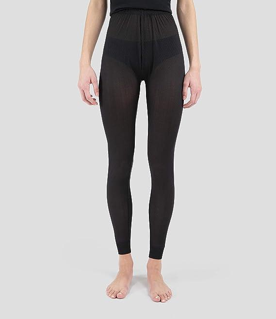 Terramar Women's Standard ThermasilK Pant, Black, Medium