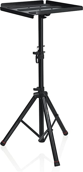 """Gator Frameworks Heavy Duty Deluxe Adjustable Multi-Media Gear Stand Featuring 100x100 Vesa Mounting Brackets 