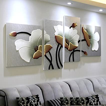 Quadri Da Camera Matrimoniale.Pitture Murali Soggiorno Divano Sfondo Dipinti Murali Ristorante