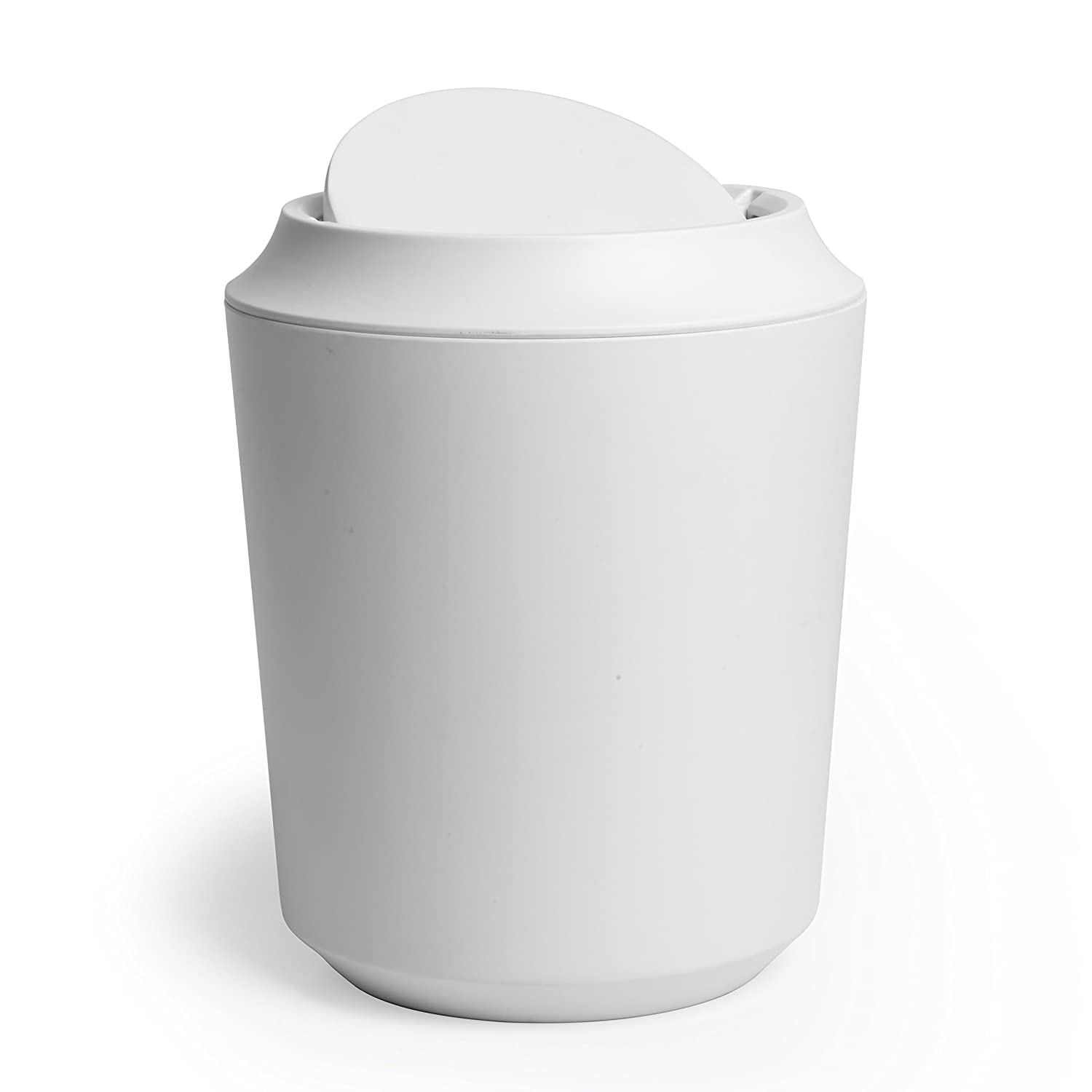 Amazoncom Umbra Corsa Bathroom Trash Can With Lid Small Waste