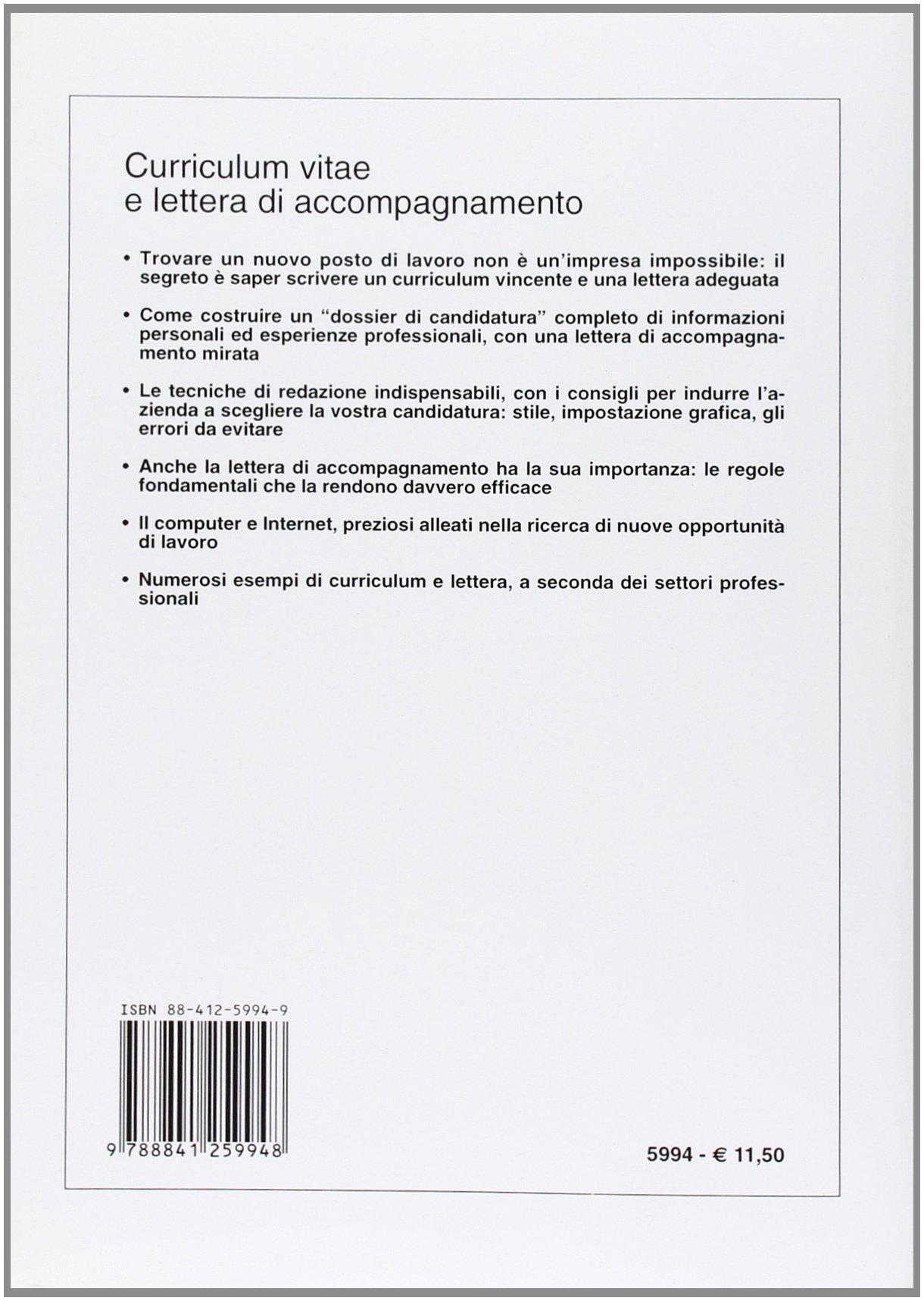 Curriculum Vitae E Lettera Di Accompagnamento Amazon Co Uk