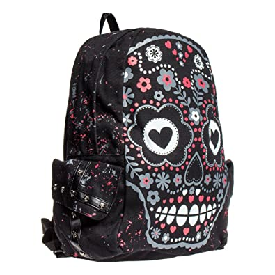 Banned Candy Skull Backpack (Black): Amazon.
