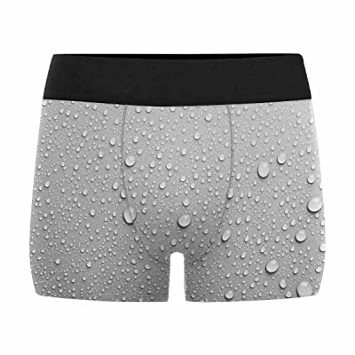 InterestPrint Custom Men's All-Over Print Boxer Briefs Water Drops an White Background (XS-3XL)