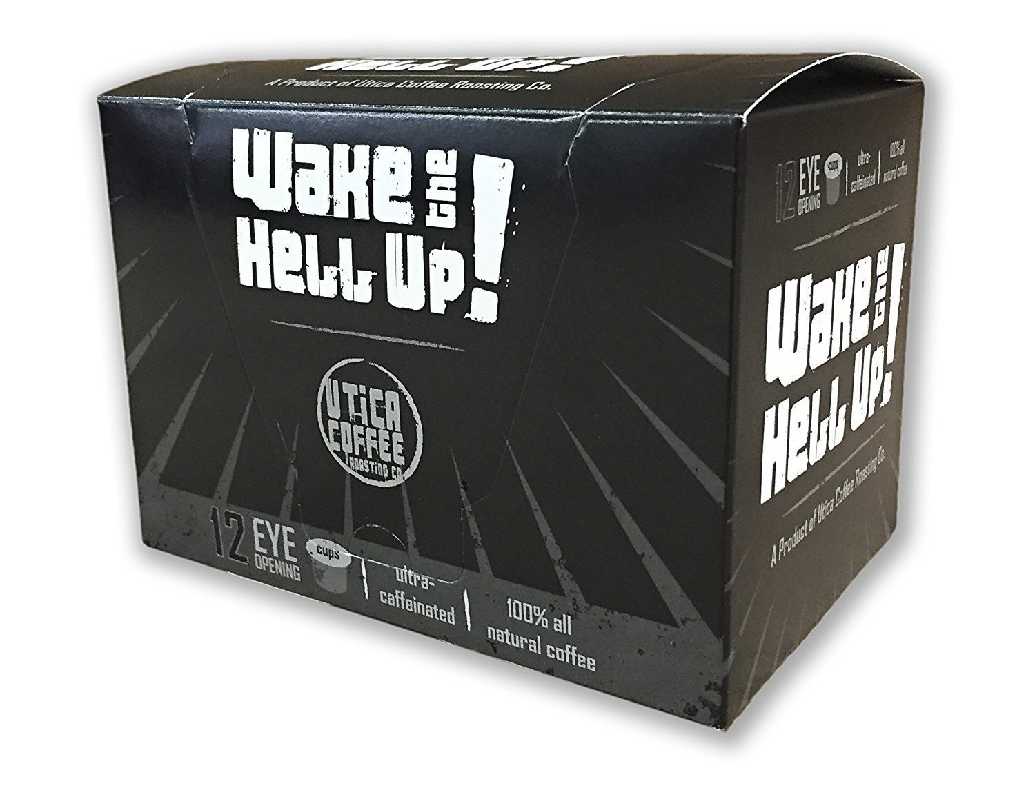 Wake The Hell Up Coffee Ultra Caffeinated Single Serve Capsules For Keurig K-Cup Brewers