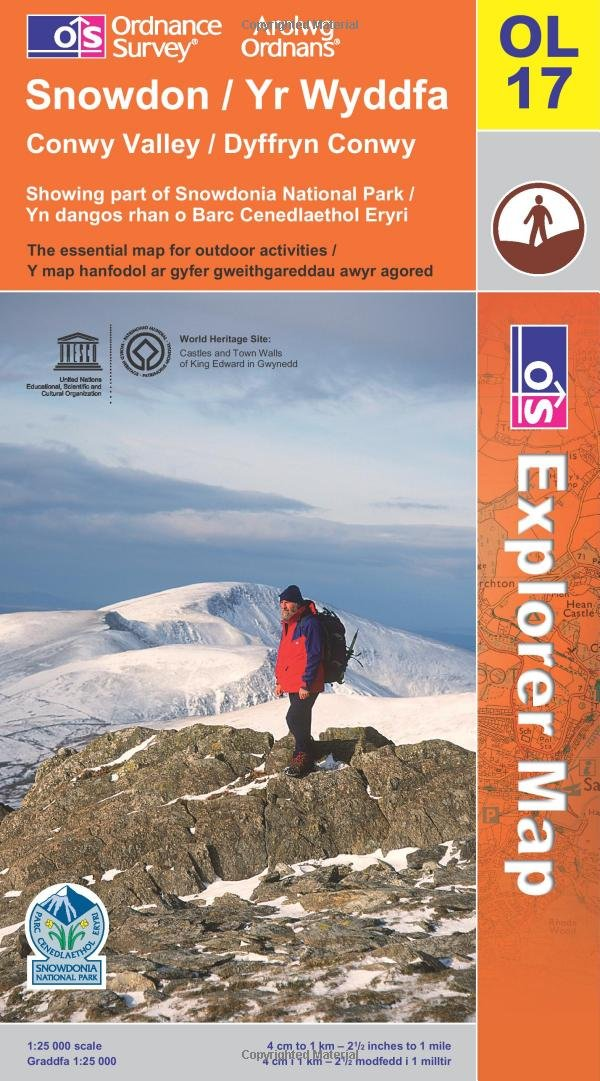 Os Walking Maps Snowdon (OS Explorer Map): Amazon.co.uk: Ordnance Survey