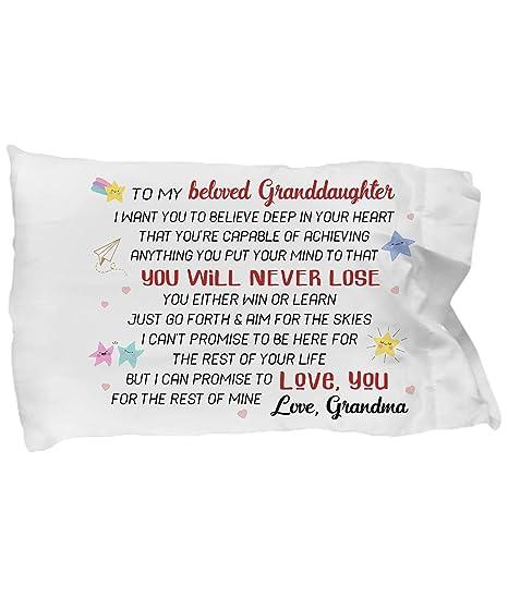 Amazon.com: a mi amada nieta funda de almohada – Abuela ...